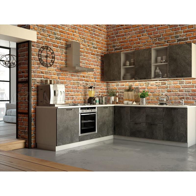 Кухня Техно камень