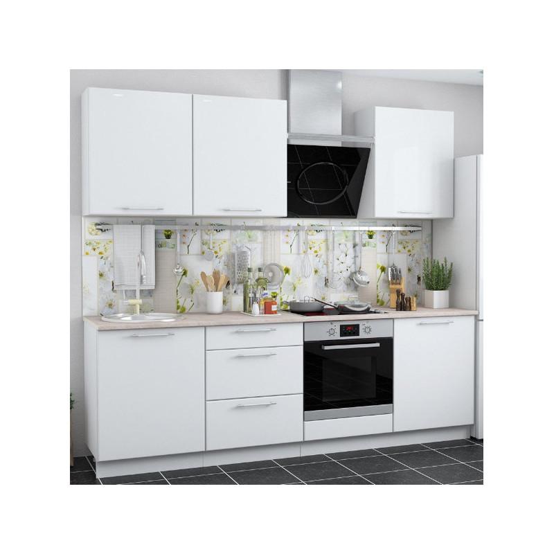 Кухня Ксения МДФ Белый глянец (Модульная серия)
