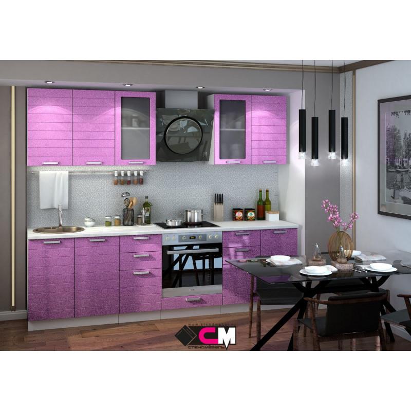 Кухня Линда МДФ Фиолетовый металлик (Модульная серия)