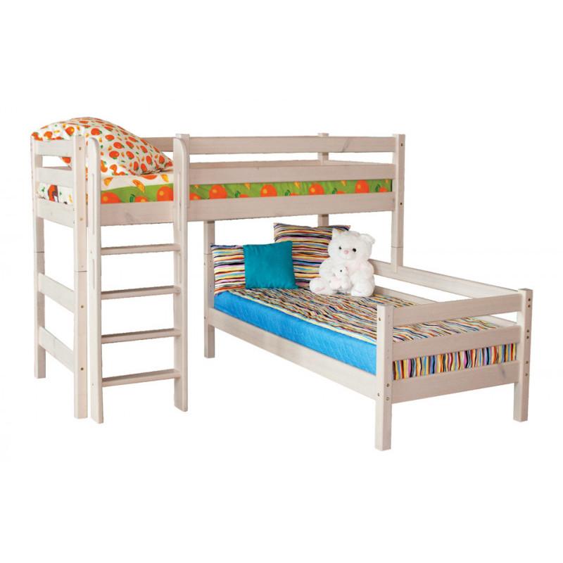 """Кровать """"Соня"""" вариант №7 с наклонной лестницей"""