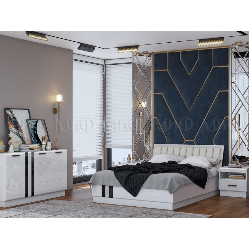Спальня Манголия Белый глянец (Модульная система)