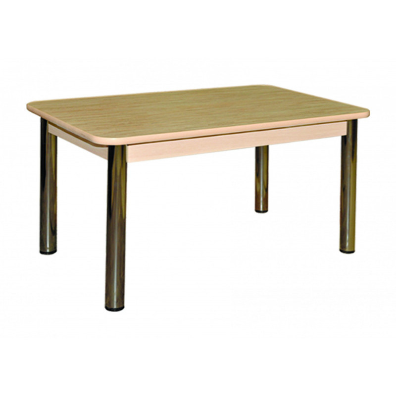 Стол обеденный на мет. опорах